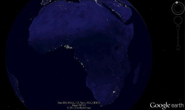 google earth africa economy map