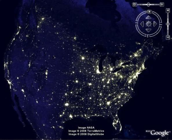 google earth america economy map