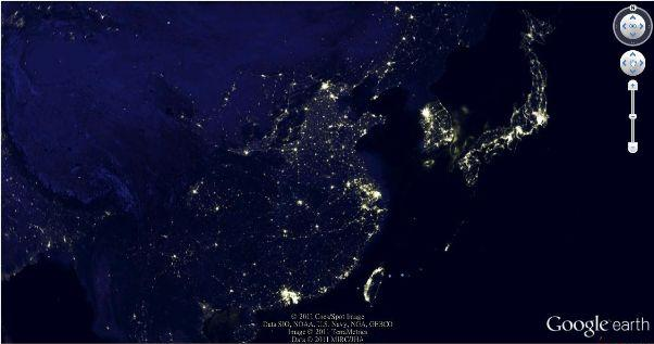 google earth china economy map