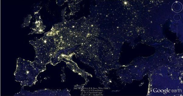 Google earth european economy map