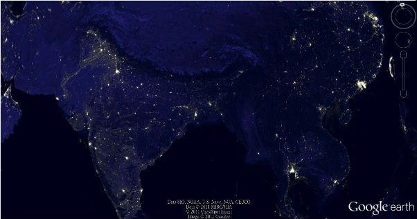 google earth india economy map
