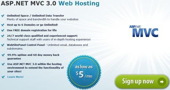 Arvixe asp.net mvc 3.0 hosting