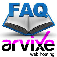 arvixe hosting faq