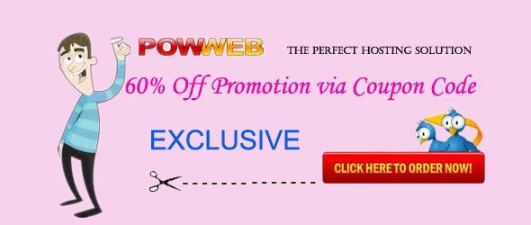 Powweb 60% off coupon