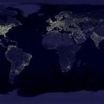 Global Economy View on Google Earth Map