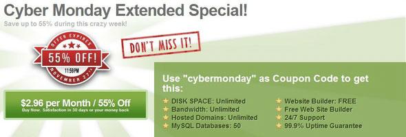 Ixwebhosting Cybermonday Promo