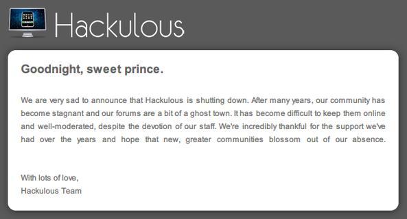 Hackulous closed