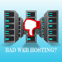 how is bad web hosting produced?