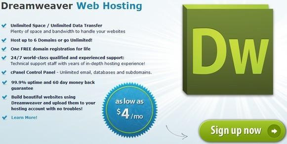 Best dreamweaver hosting - arvixe