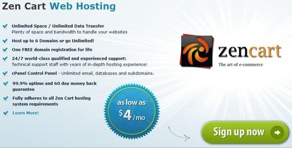 Arvixe zen cart hosting plan