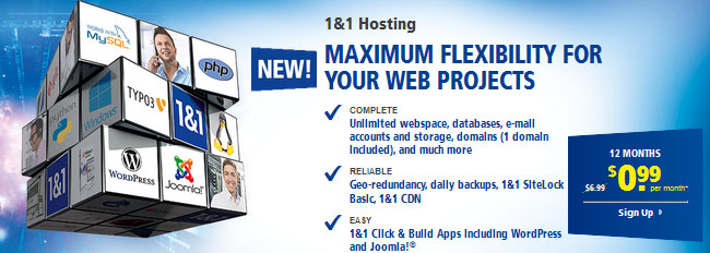 1and1 hosting plans