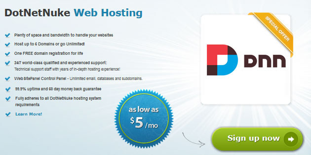 arvixe dnn hosting features