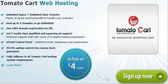 arvixe tomatocart hosting plan