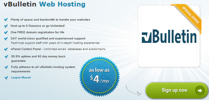 arvixe vbulletin hosting offer