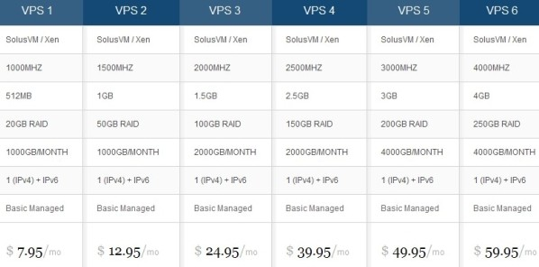 burstnet vps server features