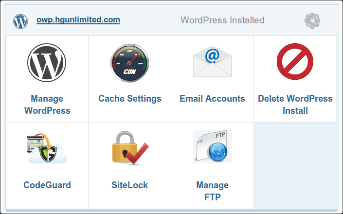 hostgator wordpress control panel