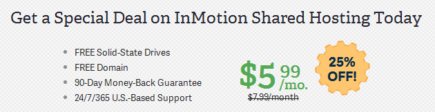 inmotion hosting plan offers