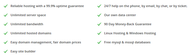 ix coldfusion hosting features
