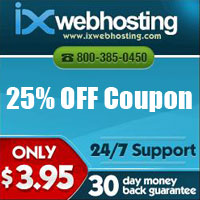ixwebhosting coupon - 25% off