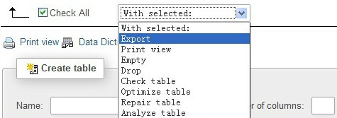 mysql export from phpmyadmin