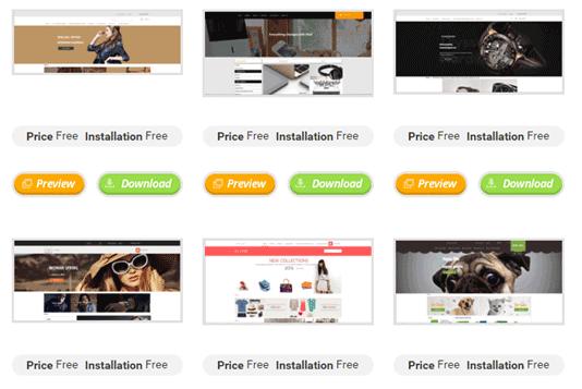 tmdhosting free cms templates