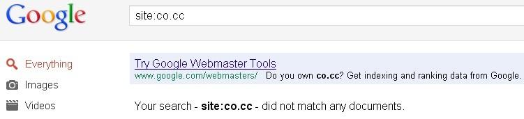 Google banned co.cc domain