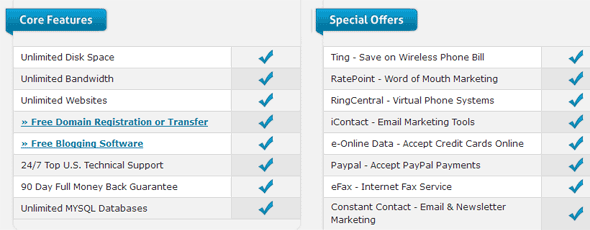 webhostinghub hosting features