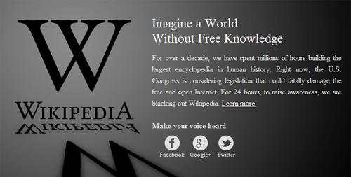 wikipedia oppose sopa action