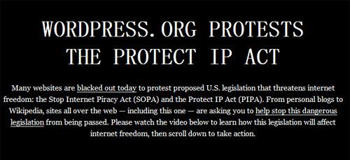 wordpress.org oppose sopa action